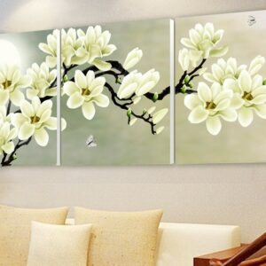 3 pcs Print poster canvas Wall Art orchids Decoration Modular pictures on the wall sitting room no frame 70cmX70cmX3pcs