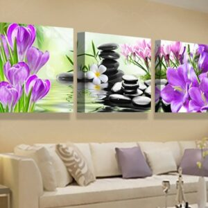 3 pcs Print poster canvas Wall Art  Flower Decoration art Modular pictures on the wall sitting room no frame 60cmx60cmx3pcs