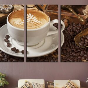3 Piece Frame Coffee Picture Wall Art Canvas Home Decoration Living Room Canvas Print Large Canvas Art Poster 50cmx90cmx3pcs