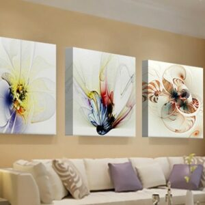 3 pcs Print poster canvas Wall Art  Flower Decoration art Modular pictures on the wall sitting room no frame 80cmx80cmx3pcs