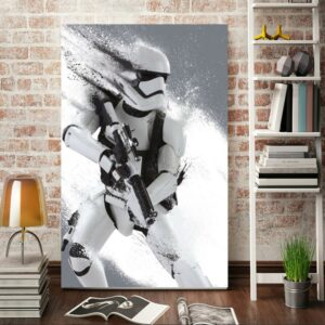 Morden wall art stormtrooper Star Wars movie poster home decor wall picture for living room artwork Unframed 24inchX32inch