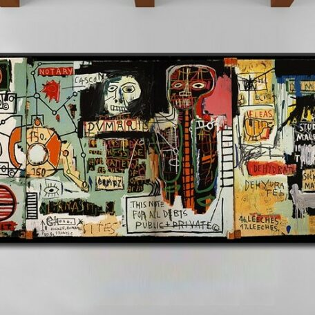 Notary Jean Michel Basquiat Neo Expressionism For Graffiti Art Print On Canvas Home Decoration 60cmx120cm