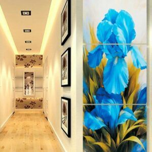 3 Panel Modular Pictures Modern Canvas Wall Pictures Flower Decorative For Living Room HD Print  60x60cm3pcs