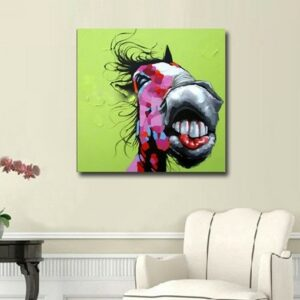 Oil Painting hand painted Oil Painting on Canvas Abstract Animal Wall Art for Home Decoration no frame 50x50cm