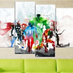 4 Panels the avengers modern art canvas wall paintings cuadros decorativos canvas prints paintings for living room wall 30x60cmx2 30x80cmx2