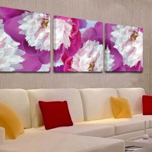3 Panel Modular Pictures Modern Canvas Wall Pictures Flower Decorative For Living Room HD Print 80x80cm3pcs