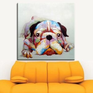 Oil Painting hand painted Oil Painting on Canvas Abstract Animal Wall Art for Home Decoration no frame 60x60cm