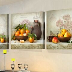 3 Panels paintings for the kitchen fruit wall decor modern canvas art wall picture for living room unframed 70cmx70cmx3pcs