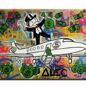 Fly Alec monopoly Graffiti mr brainwashart print canvas for wall art decoration No framed 50x65cm