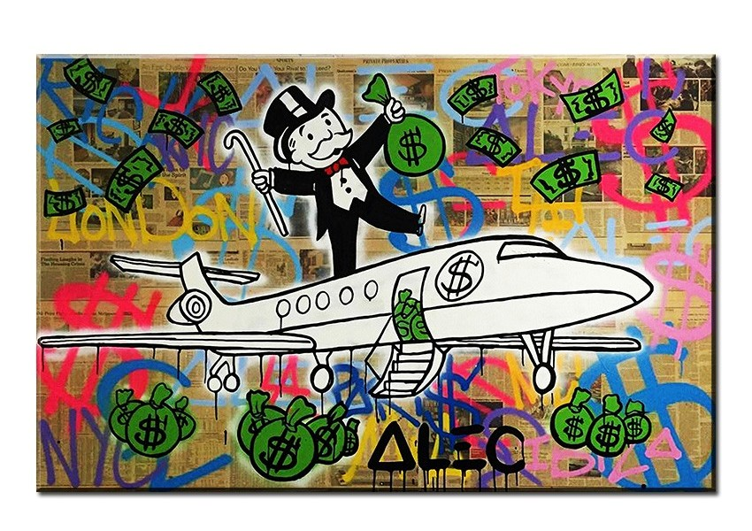 Fly Alec monopoly Graffiti mr brainwashart print canvas for wall art ...